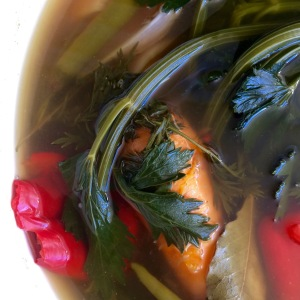 Simmered vegetable broth