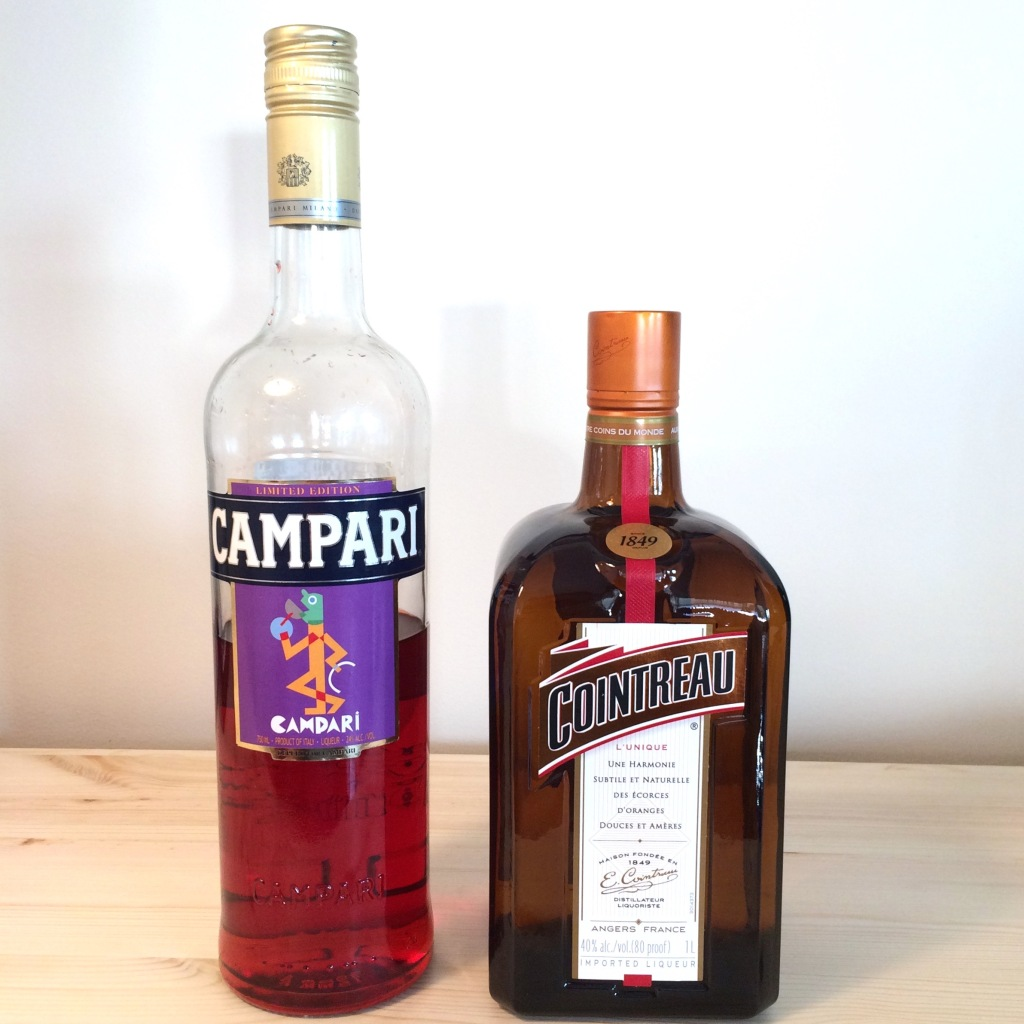 Campari and Cointreau