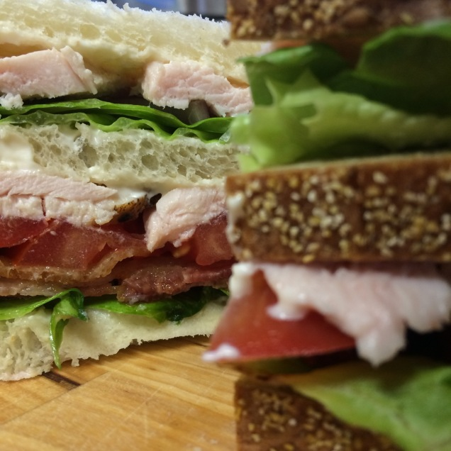 Assemble sandwiches.