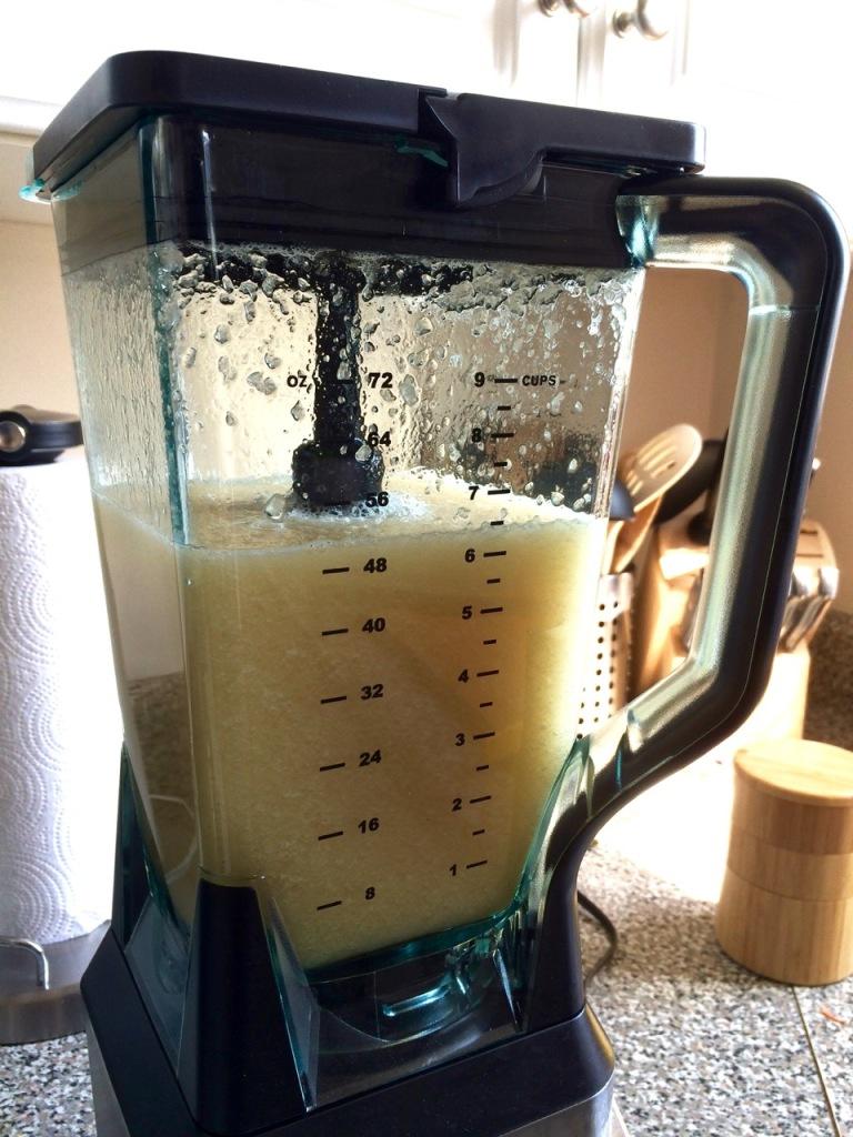 granita ingredients in the blender