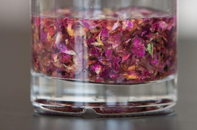 Rose-infused gin